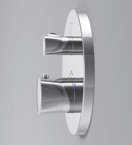 F71A85500 Spirit 2.1, cмеситель д/ванны/душа монтируемый в стену с термостатом, хром, шт.