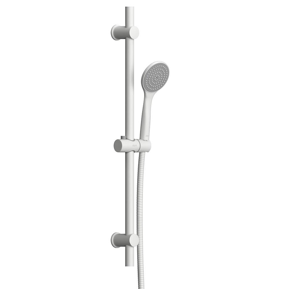 D0108000WH Comfort душевой комплект, ручной душ 1F, стойка 600 мм, белый