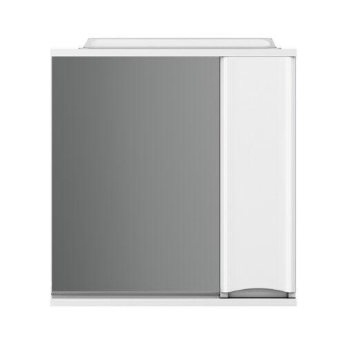 M80MPR0651WG Like, зеркало, частично-зеркальный шкаф, правый, 65 см, с подсветкой, белый, глянец, шт