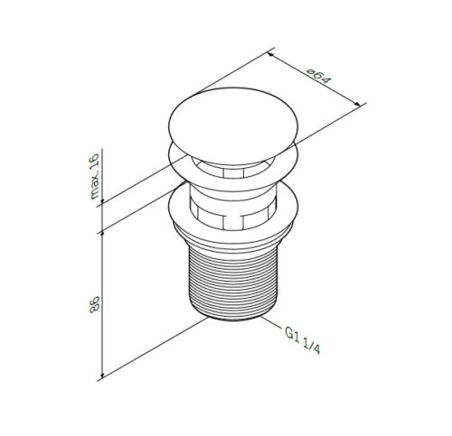 F0700164 Донный клапан, нажимной