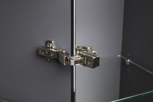 M70ACHMR0356GM SPIRIT 2.0, шкаф-колонна, подвесной, правый, 35 см, зеркальный фасад, цвет: графит, м