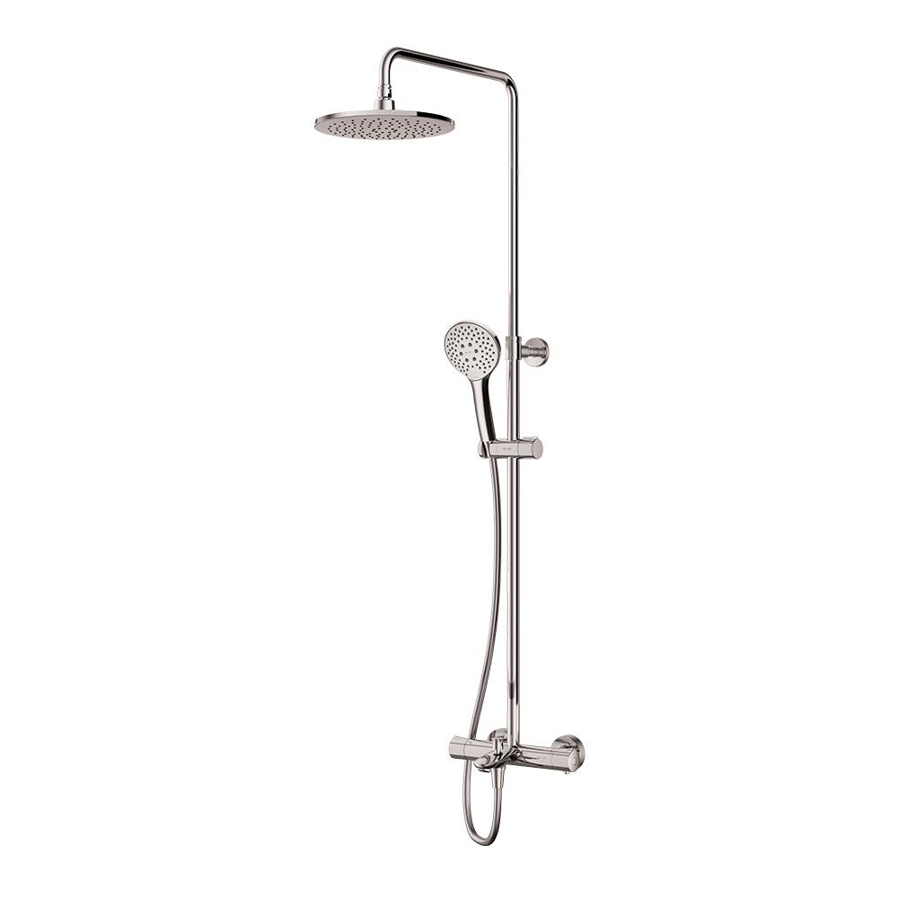 F0790520 Gem душ.система, набор: смеситель д/ванны/душа с термостатом, верхн. душ d 220 мм, ручн.душ