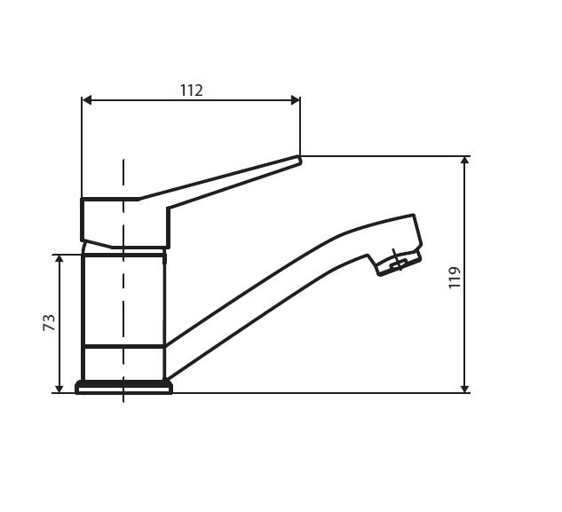 D20210001 Optima смеситель для умывальника с поворотным изливом