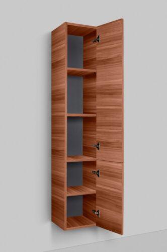 M90CHR0306NF GEM, шкаф-колонна, подвесной, правый, 30 см, двери, push-to-open, цвет: орех, текстурир