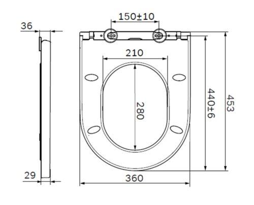 C707858WH Spirit V2.0 сиденье для унитаза slim wrap-over, микролифт
