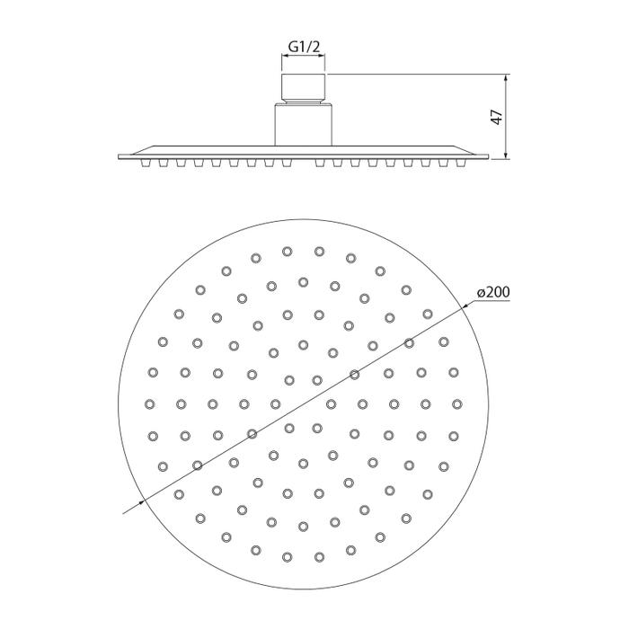 Душевая насадка верхняя круглая, IDDIS, 00320RSi64