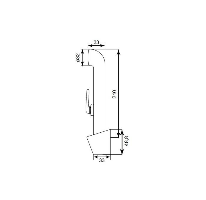 Душевой комплект, гигиенический, 020, IDDIS, 0201F15I20