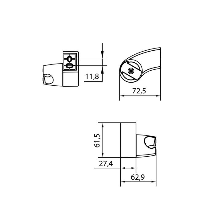 Держатель для лейки, 040, IDDIS, 040CP00I53