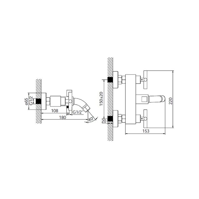 Смеситель для ванны, 27102T7K, Natal, шланг, лейка, держатель