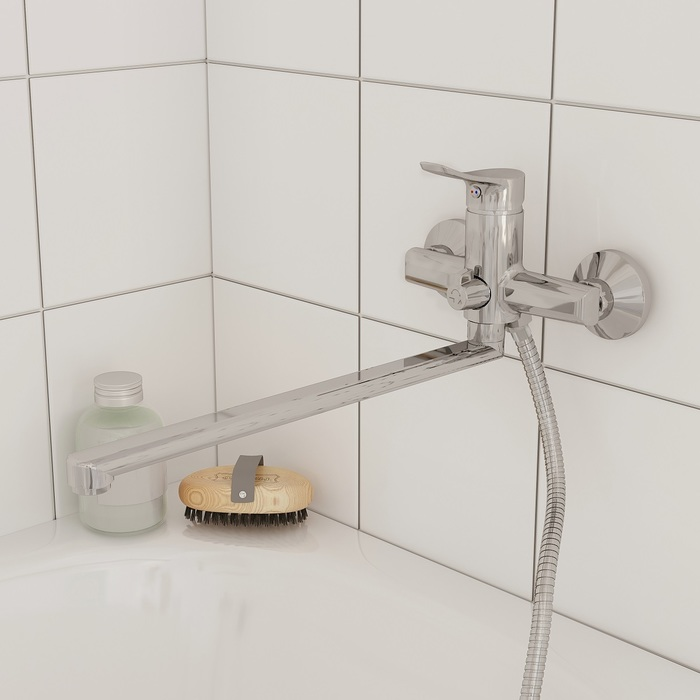 Смеситель для ванны с длинным изливом, Amplex, Milardo, AMPSB02M10