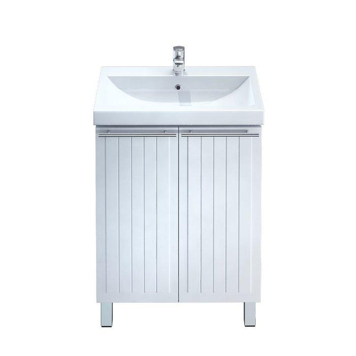 Тумба с умывальником  для ванной комнаты, напольная, белая, 60 см, Amur, Milardo, AMU60W2M95K