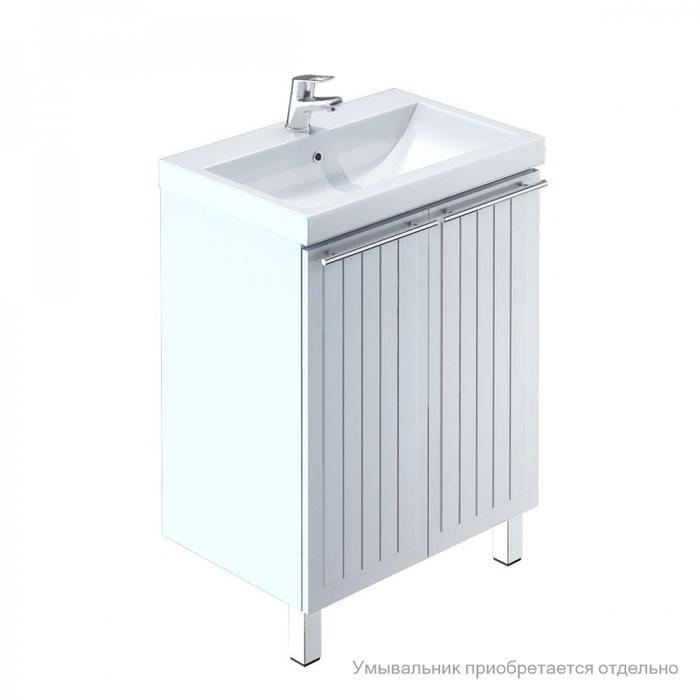Тумба для ванной комнаты, напольная, белая, 60 см, Amur, Milardo, AMU60W2M95. Подходит умывальник 0016000U28