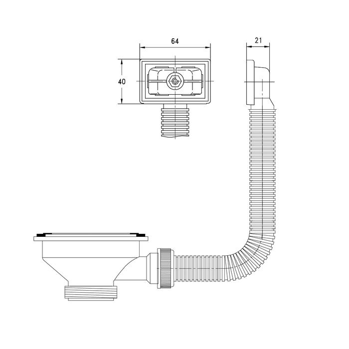 Мойка с выпуском арт. 011UPSOi84, нержавеющая сталь, шелк, чаша слева, 605*440, Arro S, IDDIS, ARR60SLi77K