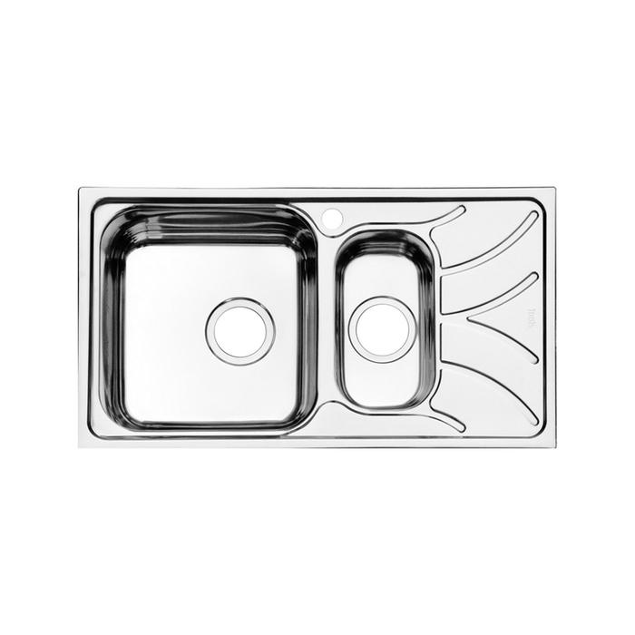 Мойка, нержавеющая сталь, полированная, 1 1/2, чаша слева, 780*440, Arro S, IDDIS, ARR78PXi77