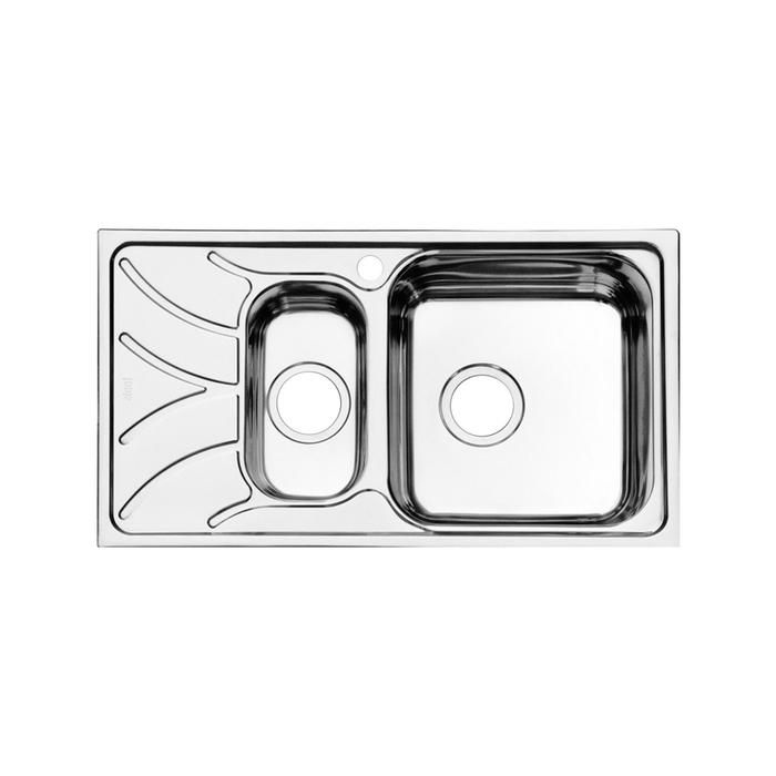 Мойка, нержавеющая сталь, полированная, 1 1/2, чаша справа, 780*440, Arro S, IDDIS, ARR78PZi77