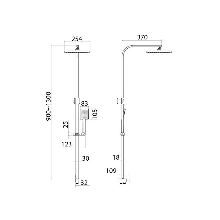 Душевой гарнитур с верхней лейкой, хром, Bild, IDDIS, BIL1FSBi76