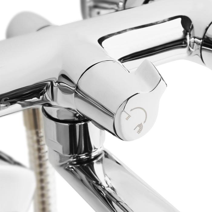 Смеситель для ванны с длинным изливом с керамическим дивертором Bounce, IDDIS, BOUSBL2i10
