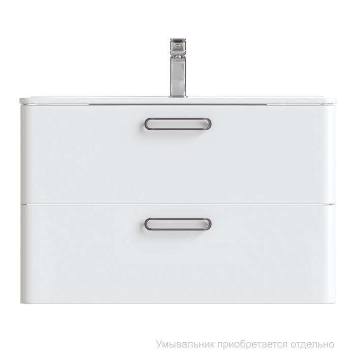 Тумба подвесная, белая, 80 см, Brick,  IDDIS, BRI80W0i95. Подходит умывальник: 0108000i28
