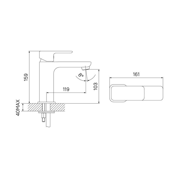 Смеситель для умывальника, Brick, IDDIS, BRISB00i01
