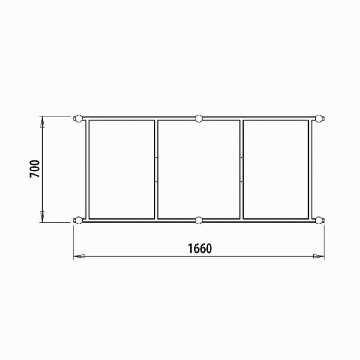 Каркас для ванны, разборный, 170 см, Calipso, IDDIS, CAL1775i92