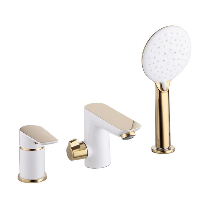 Смеситель на борт ванны на 3 отверстия с керамическим дивертором, Cloud, IDDIS, CLOWG30i07