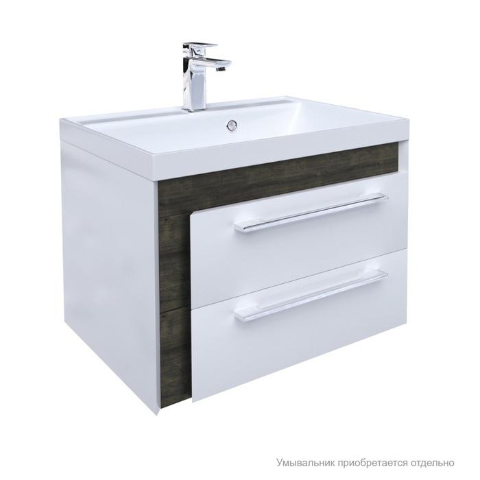 Тумба для ванной комнаты, подвесная, белая/под дерево, 60 см, Color Plus, IDDIS, COL60W0i95. Подходит умывальник 0066000i28