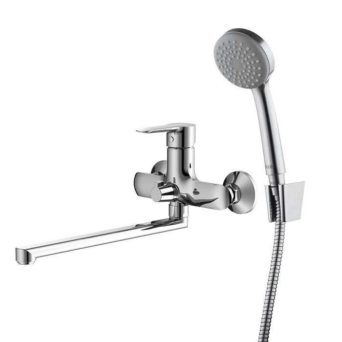 Смеситель для ванны с длинным изливом с керамическим дивертором, Cuba, IDDIS, CUBSBL2i10