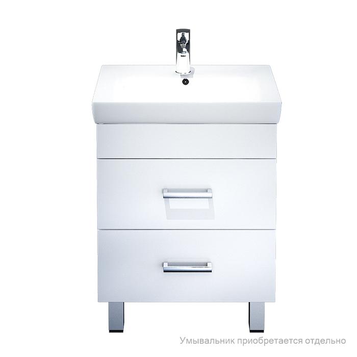 Тумба для ванной комнаты, напольная, белая, 55 см, Custo, IDDIS, CUS55W0i95. Подходит умывальник 0045500i28
