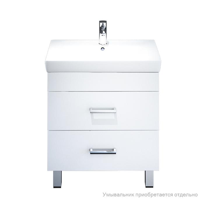 Тумба для ванной комнаты, напольная, белая, 70 см, Custo, IDDIS, CUS70W0i95. Подходит умывальник 0047000i28