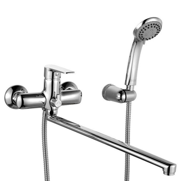 Смеситель для ванны с длинным изливом с керамическим дивертором, District, IDDIS, DISSBL2i10