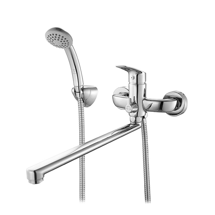 Смеситель для ванны с длинным изливом с керамическим дивертором,  Don, Milardo, DONSBLCM10