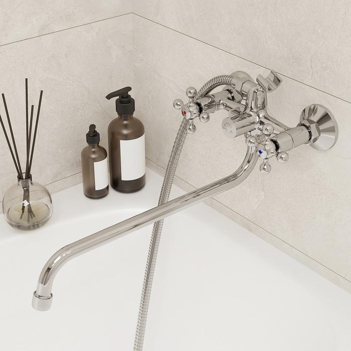 Смеситель для ванны с длинным изливом, Duplex, Milardo, DUPSB02M10