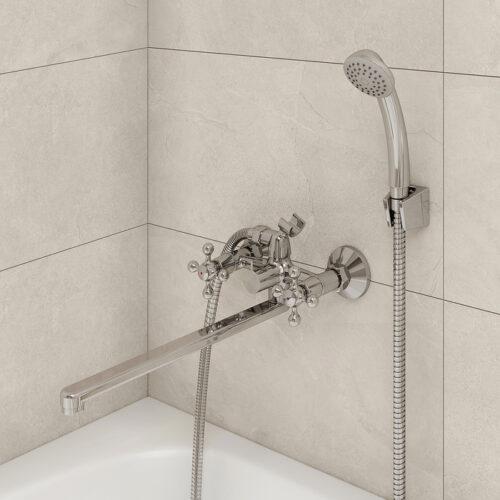 Смеситель для ванны с длинным изливом, Duplex, Milardo, DUPSBL2M10