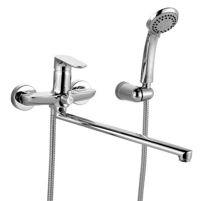 Смеситель для ванны с длинным изливом с керамическим дивертором, Eclipt, IDDIS, ECLSBL2i10