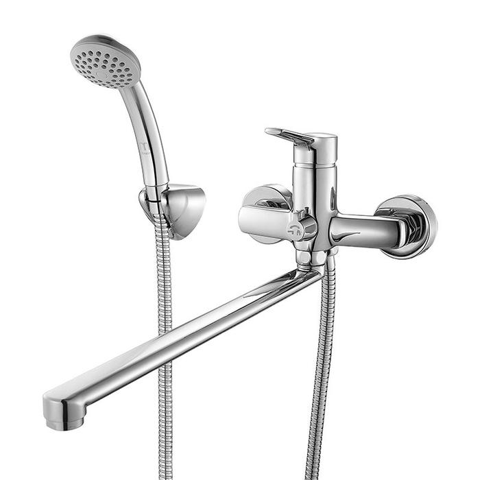 Смеситель для ванны с длинным изливом с керамическим дивертором,  Enisey, Milardo, ENISBLCM10