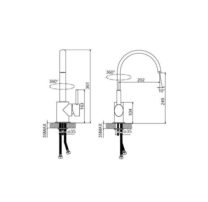 Смеситель для раковины, FA56163C, Kitchen