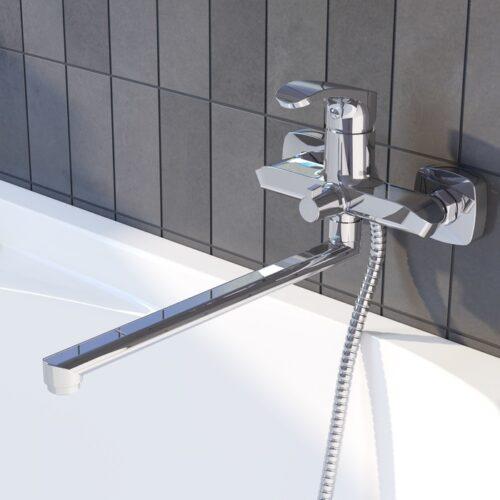 Смеситель для ванны с длинным изливом, Joker, IDDIS, JOKSB00i10WA