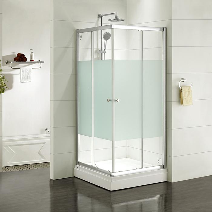 Дверки душевые, квадратные, шелк, стекло матовое, поддон низкий, 90*90*185 см, Mirro, IDDIS, M10S099i23