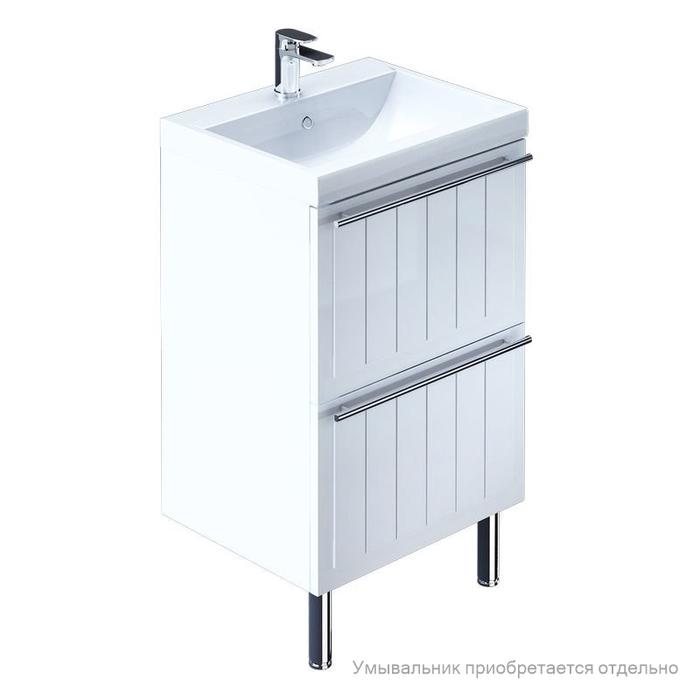 Тумба для ванной комнаты, напольная, белая, 60 см, Magellan, Milardo, MAG60W0M95. Подходит умывальник 0016000U28