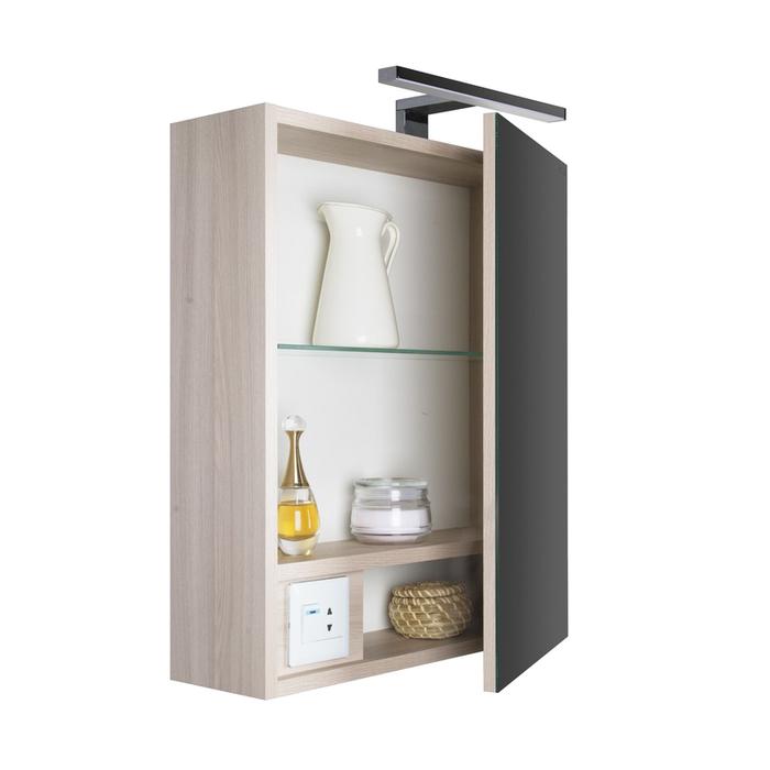 Шкаф-зеркало, 50 см, Mirro, IDDIS, MIR5000i99