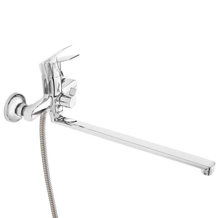 Смеситель для ванны с длинным изливом с керамическим дивертором,  Nelson, Milardo, NELSBLCM10