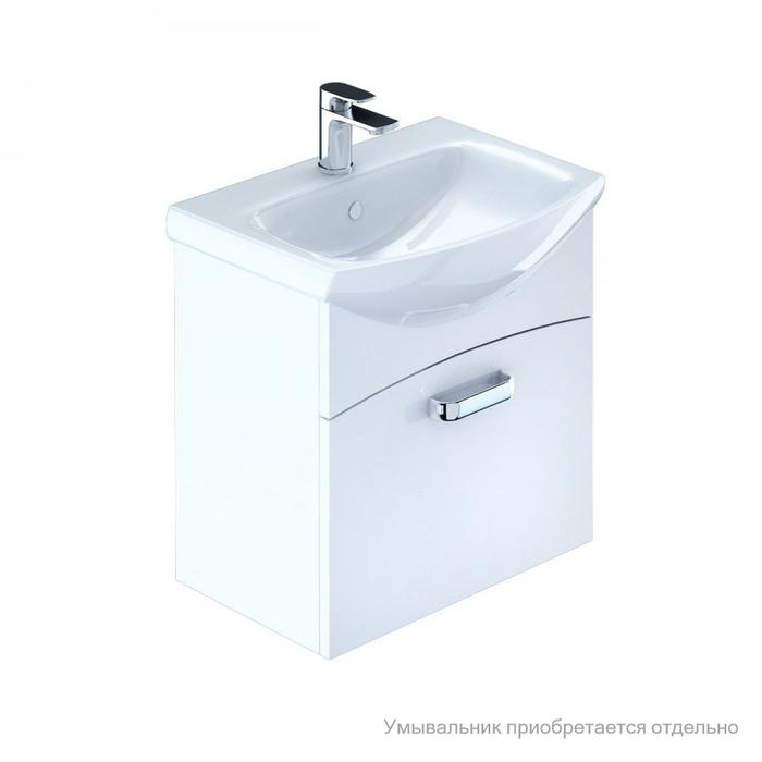 Тумба для ванной комнаты, подвесная, белая, 50 см, Niagara, Milardo, NIA50W0M95. Подходит умывальник 0035000M28
