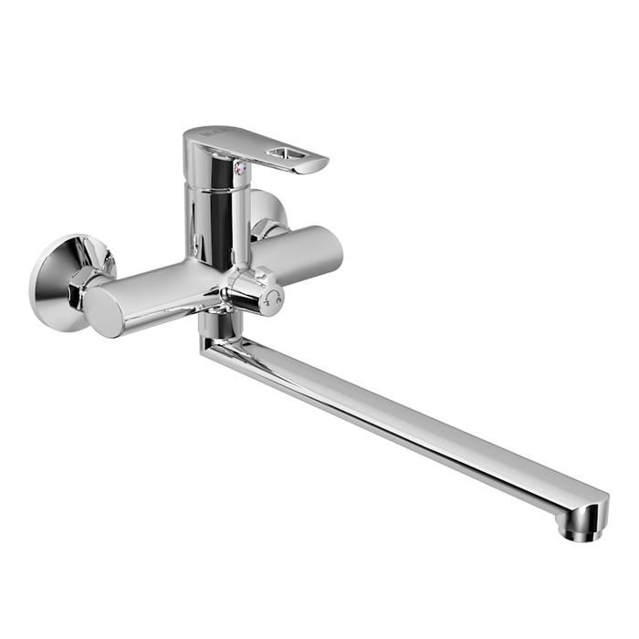 Смеситель для ванны с длинным изливом с керамическим дивертором, Runo, IDDIS, RUNSBL2i10