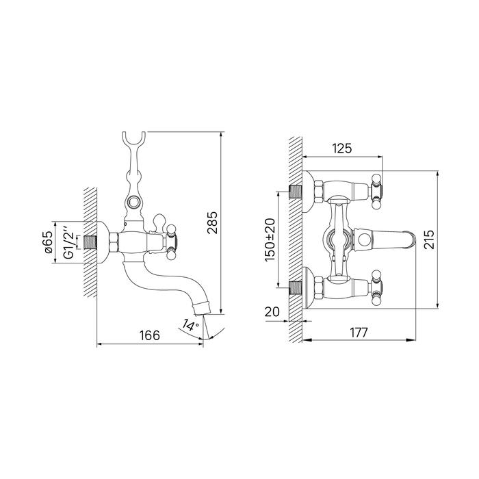 Смеситель для ванны с керамическим дивертором, SAM, IDDIS, SAMBR02i02