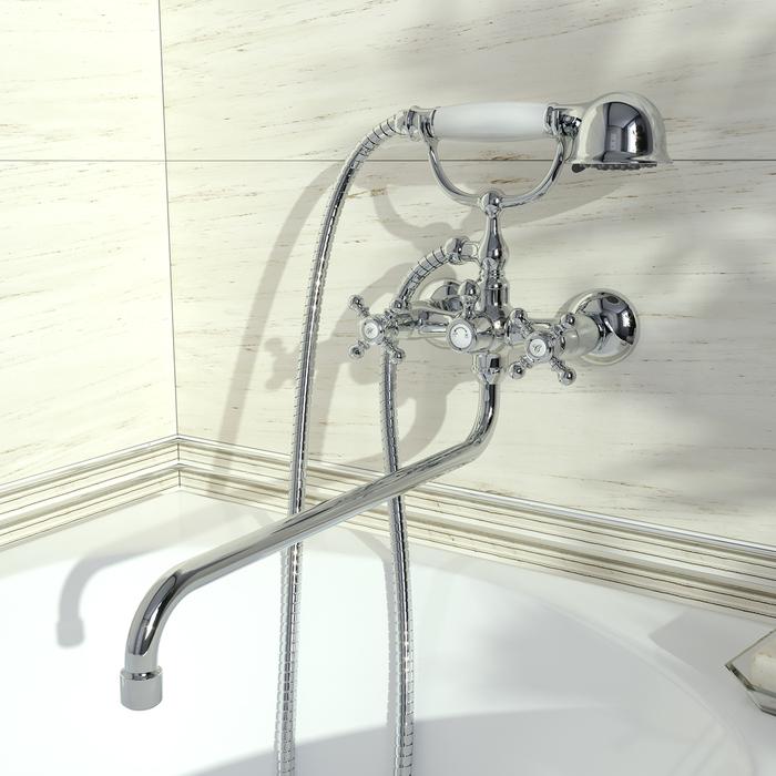 Смеситель для ванны с длинным изливом с керамическим дивертором, SAM, IDDIS, SAMSBL2i10