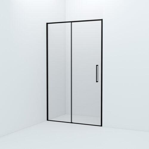 Душевая дверь, черный ал. проф., 120х195, Slide, IDDIS, SLI6BS2i69