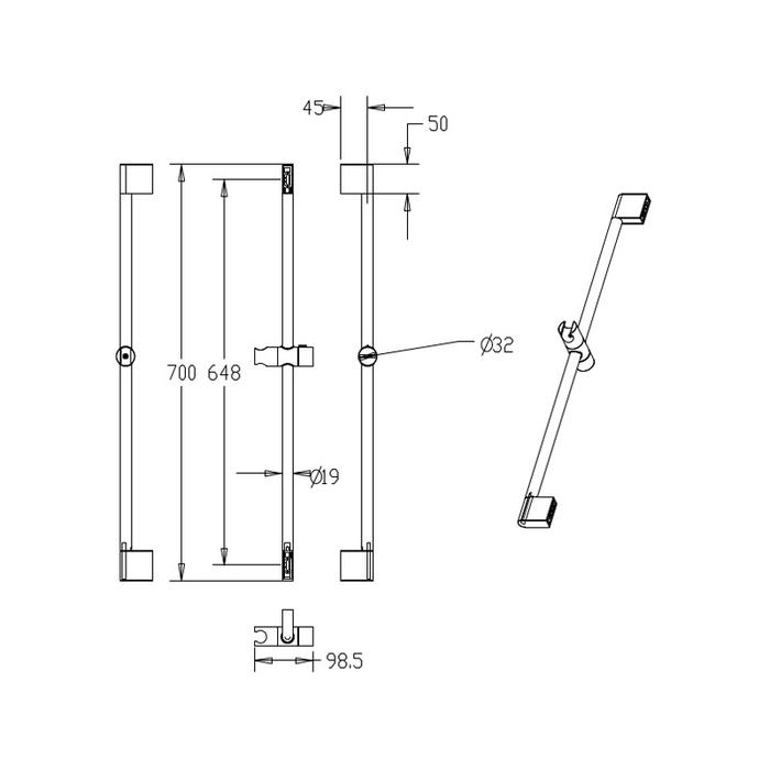 Комплект смесителей и душевых аксессуаров, Solomon, Milardo, SOL0103M70
