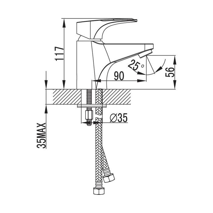 Комплект смесителей и душевых аксессуаров, Solomon, Milardo, SOL0203M70