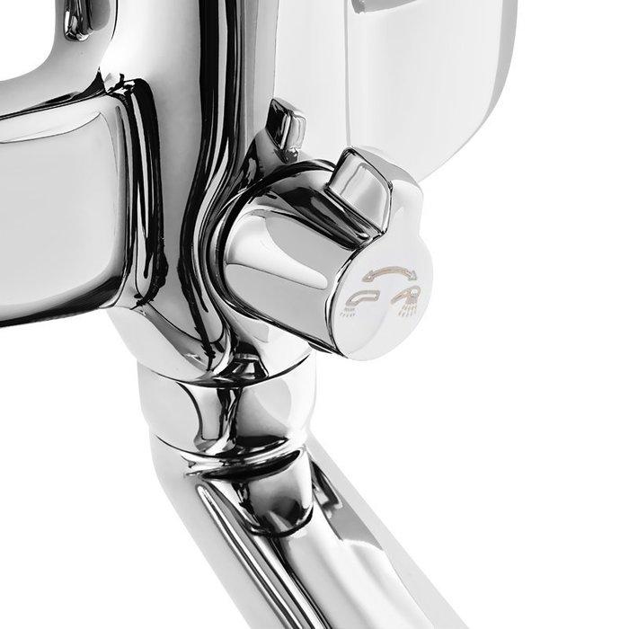 Смеситель для ванны с длинным изливом  с керамическим дивертором, Solomon, Milardo, SOLSBLCM10