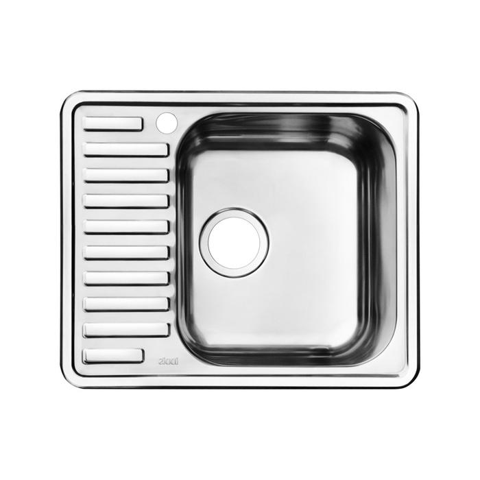 Мойка, нержавеющая сталь, полированная, чаша справа, 585*485, Strit S, IDDIS, STR58PRi77
